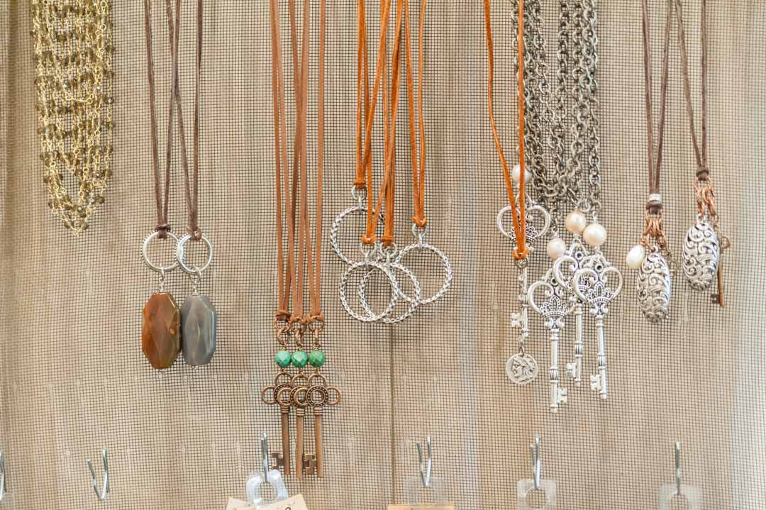 Handcrafted necklaces by Beaux Studios in Adjectives Altamonte