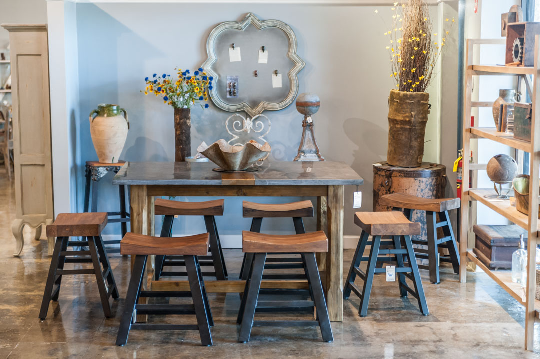 Pub Table and Bar Stools at Adjectives Altamonte