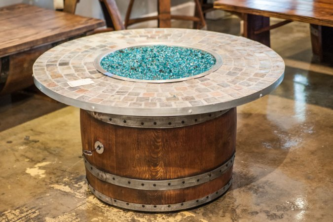Wine Barrel Fire Pit by Wine-Of-A-Kind in Adjectives Altamonte