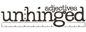 Adjectives Unhinged Logo