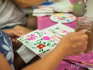 Watercolor-and-Wine-Class-at-Adjectives-Winter-Garden