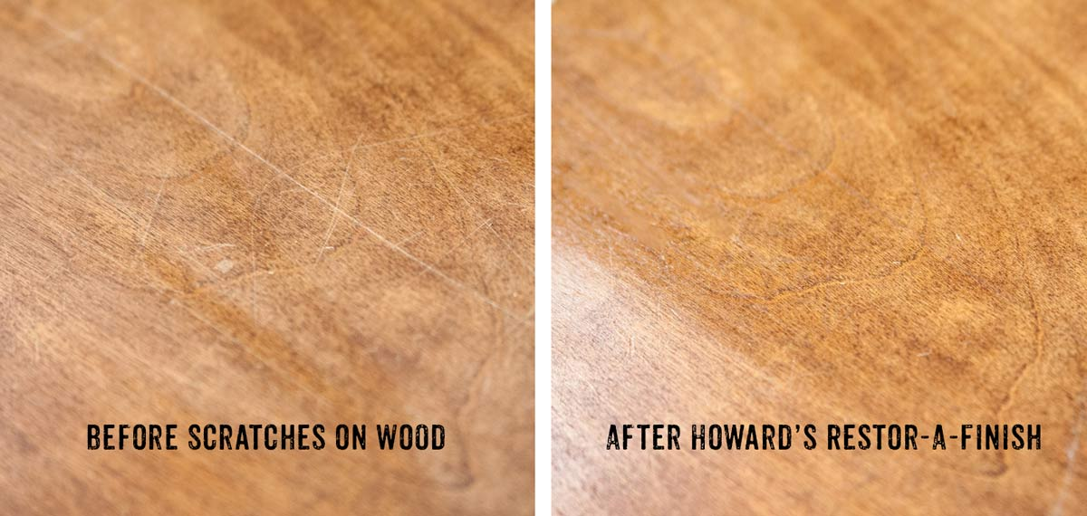 Before and After  Restore Wood Furniture with Howard s Restor A Finish Wood  Care. Quickly restore wood furniture with Howard s Restor A Finish