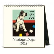 2018 Vintage Dogs Calendar back By Cavallini & Co.-7