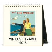 2018 Vintage Travel Calendar By Cavallini & Co.-13