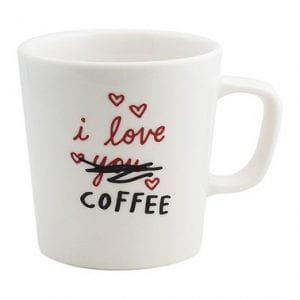 I Love Coffee Mug by Fishs Eddy