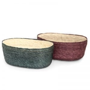 Makaua\ Tortilla Basket Green and Purple
